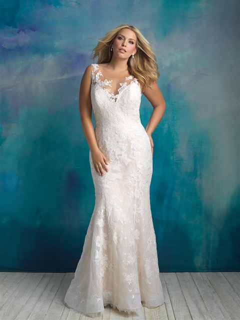 Wedding Dresses with Sleeves for Curvy Girls